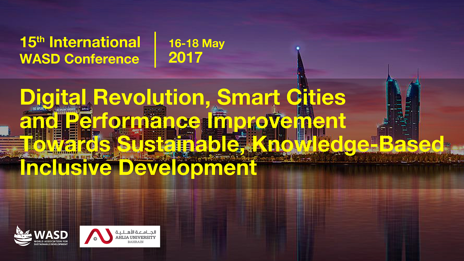 15th Sustainability Conference, Manama, Bahrain 2017<div style='clear:both;width:100%;height:0px;'></div><span class='cat'>Sustainability Conferences, MENA</span>