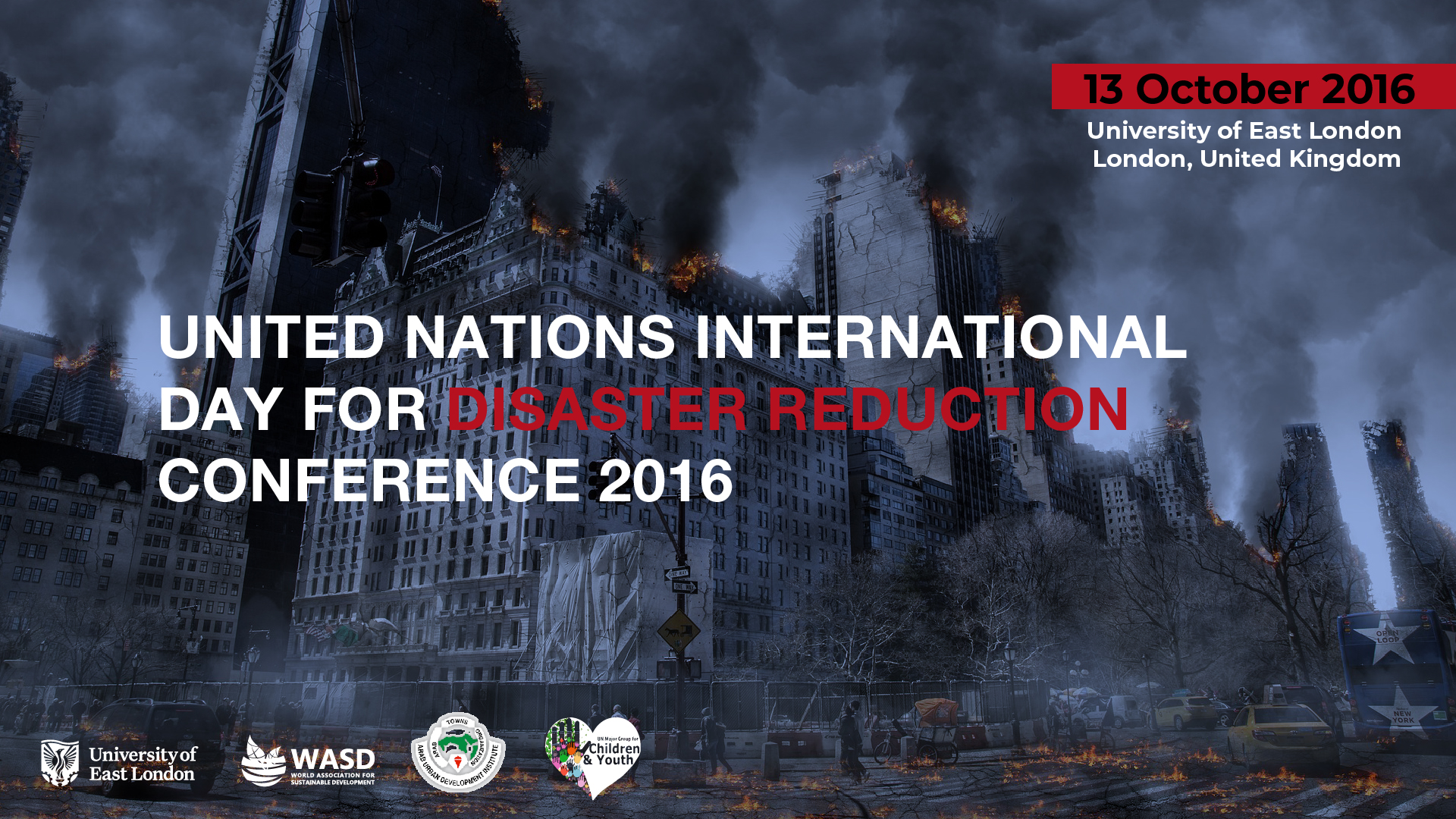 UN International Day for Disaster Reduction Conference, London, United Kingdom 2016 <div style='clear:both;width:100%;height:0px;'></div><span class='cat'>Sustainability Conferences, Diaspora, Sudan</span>